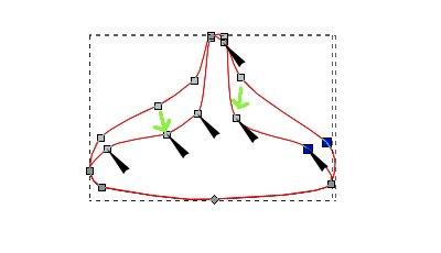 インクスケープ(Inkscape)のノードとパスを編集する07
