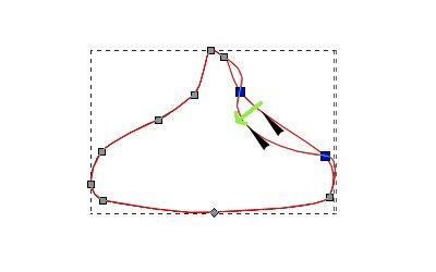 インクスケープ(Inkscape)のノードとパスを編集する08