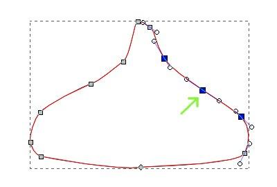 インクスケープ(Inkscape)でノードの追加・削除をする03