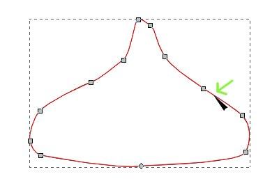 インクスケープ(Inkscape)でノードの追加・削除をする04