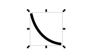 インクスケープ(Inkscape)でストロークやオブジェクトをパスに変換する04