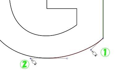 インクスケープ(Inkscape)のパス(ペンツール)の練習方法12