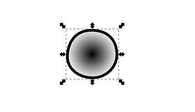 インクスケープ(Inkscape)の放射グラデーションで色を塗ろう04