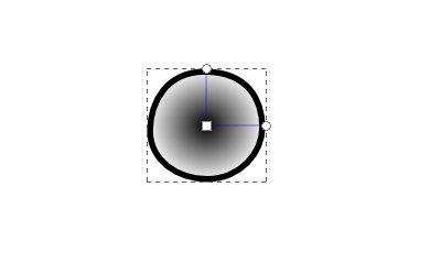 インクスケープ(Inkscape)の放射グラデーションで色を塗ろう06