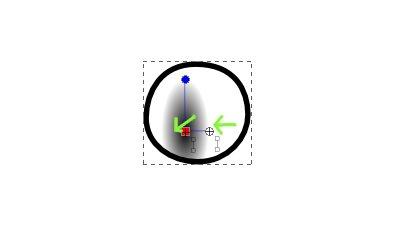 インクスケープ(Inkscape)の放射グラデーションで色を塗ろう07