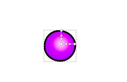 インクスケープ(Inkscape)の放射グラデーションで色を塗ろう13