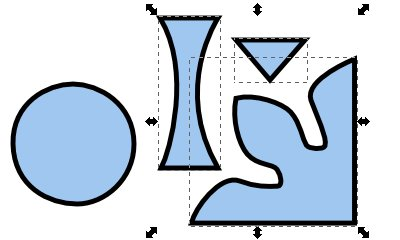Inkscape(インクスケープ)で同じ図形を複数作る15