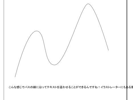 インクスケープ(Inkscape)でテキスト(文字)をパス(アウトライン)に沿わせる01