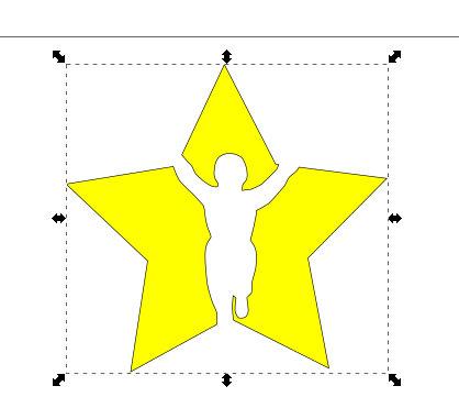 インクスケープ(Inkscape)でパスを重ねて切り取る05