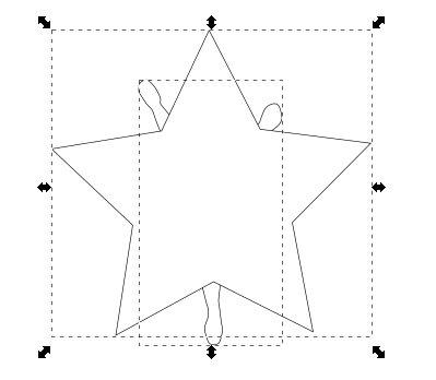 インクスケープ(Inkscape)でパスを重ねて切り取る13