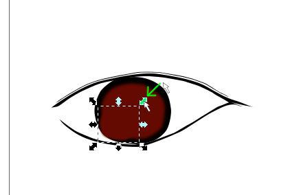 インクスケープ(Inkscape)で立体的な目を描く08